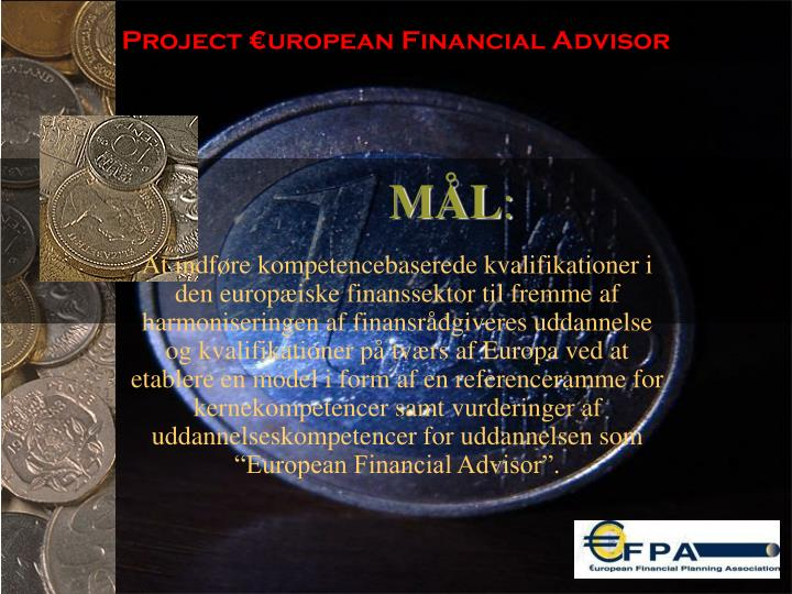 Project €uropean Financial Advisor