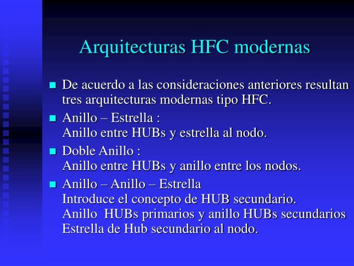 Arquitecturas HFC modernas