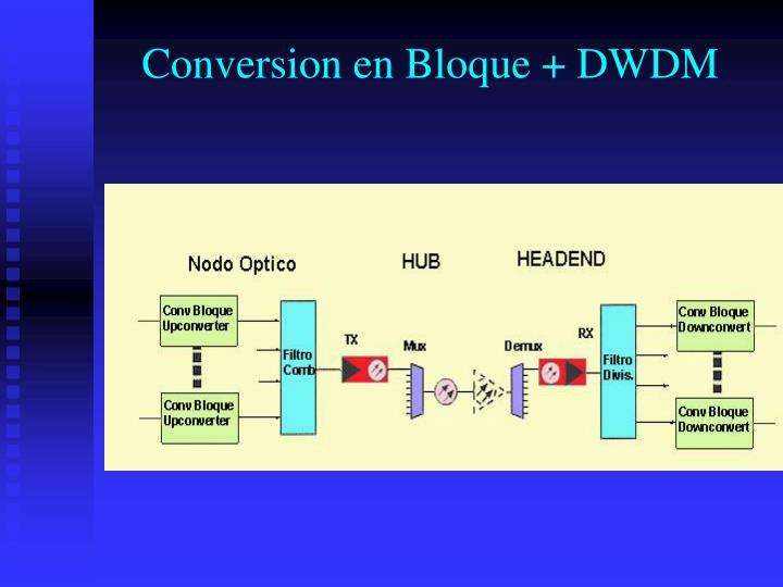 Conversion en Bloque + DWDM