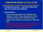 comparison group c g b a study