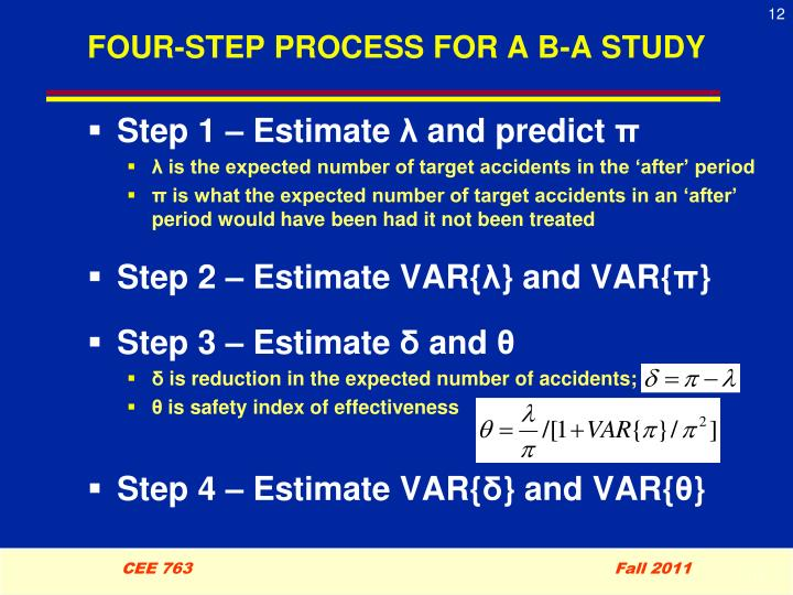 FOUR-STEP PROCESS FOR A B-A STUDY