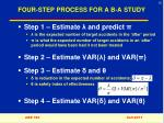 four step process for a b a study