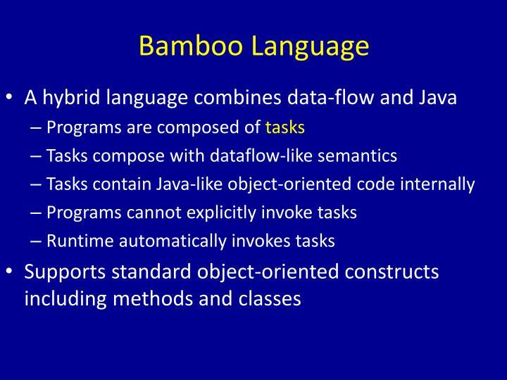 Bamboo Language