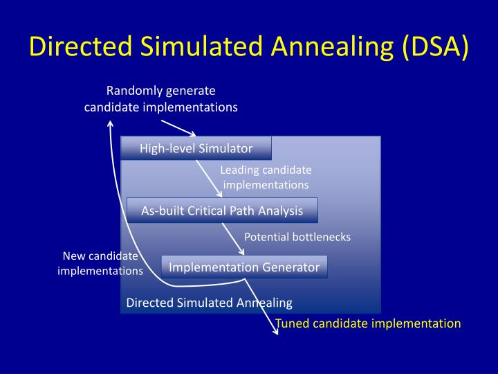 Directed Simulated Annealing (DSA)