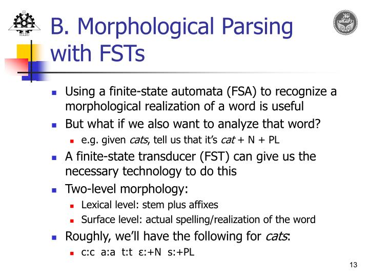 B. Morphological Parsing