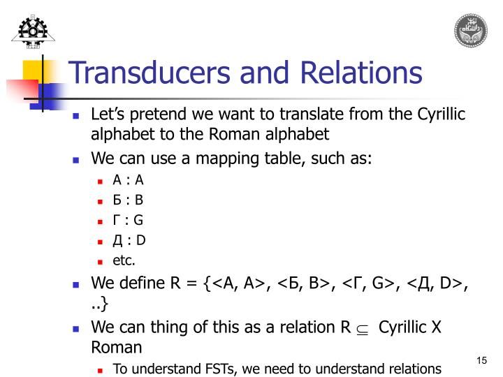 Transducers and Relations