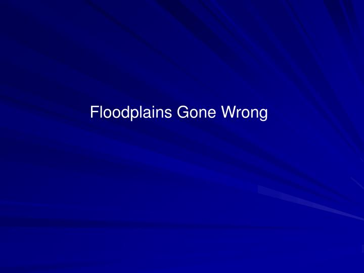 Floodplains Gone Wrong