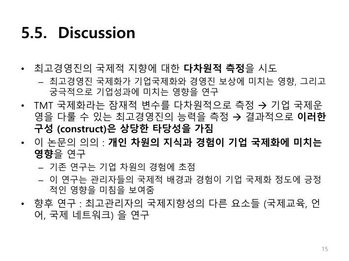 5.5.  Discussion