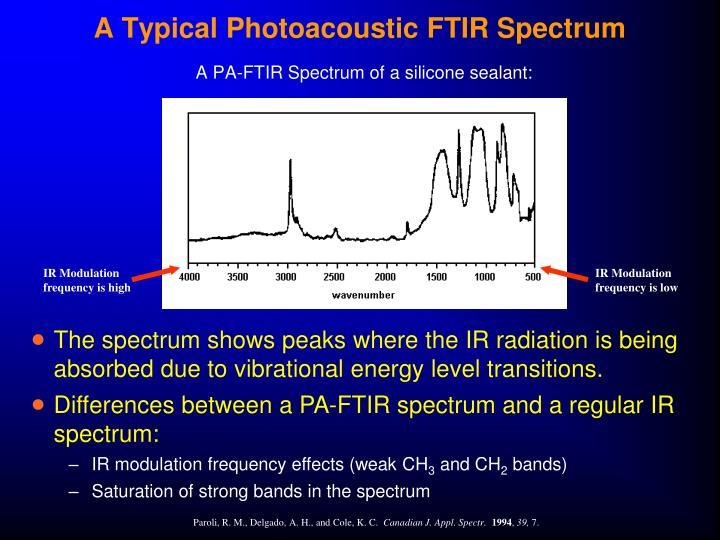 A Typical Photoacoustic FTIR Spectrum