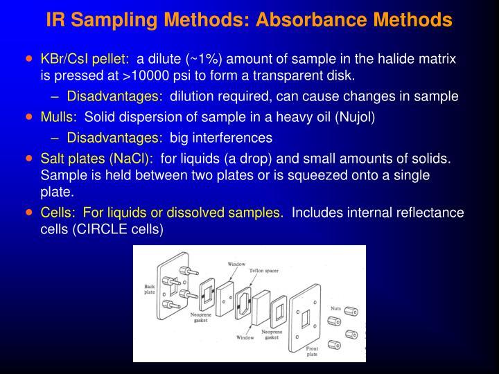 IR Sampling Methods: Absorbance Methods