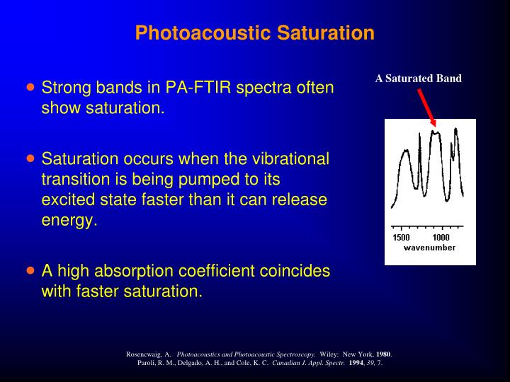 Photoacoustic Saturation