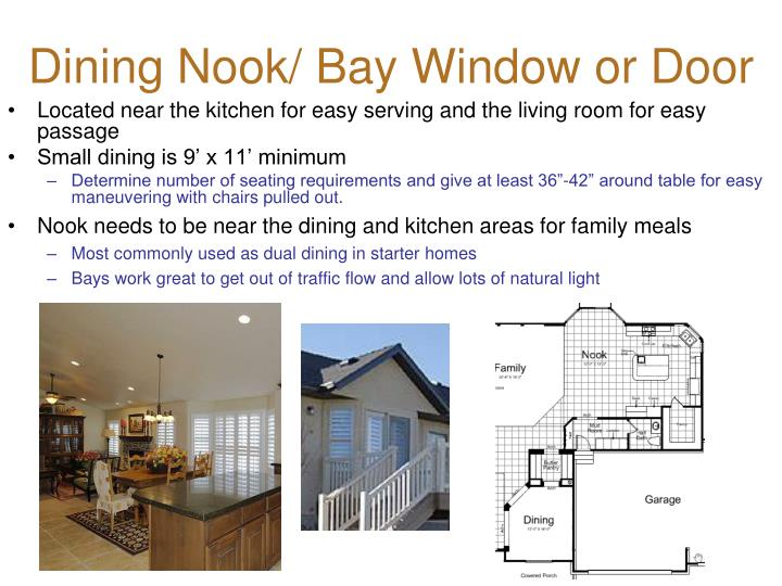 Dining Nook/ Bay Window or Door