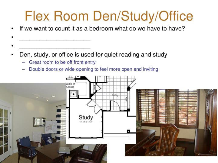Flex Room Den/Study/Office