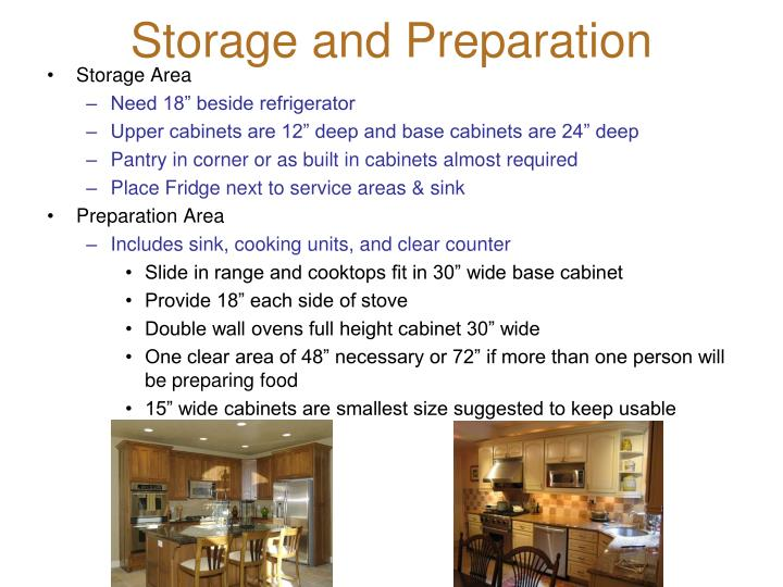 Storage and Preparation