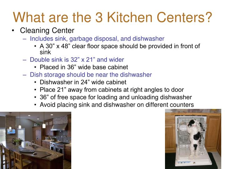 What are the 3 Kitchen Centers?