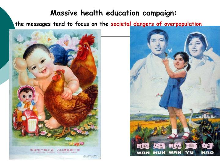 Massive health education campaign: