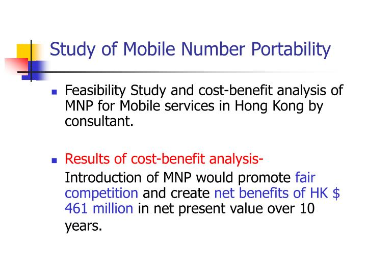 Study of Mobile Number Portability
