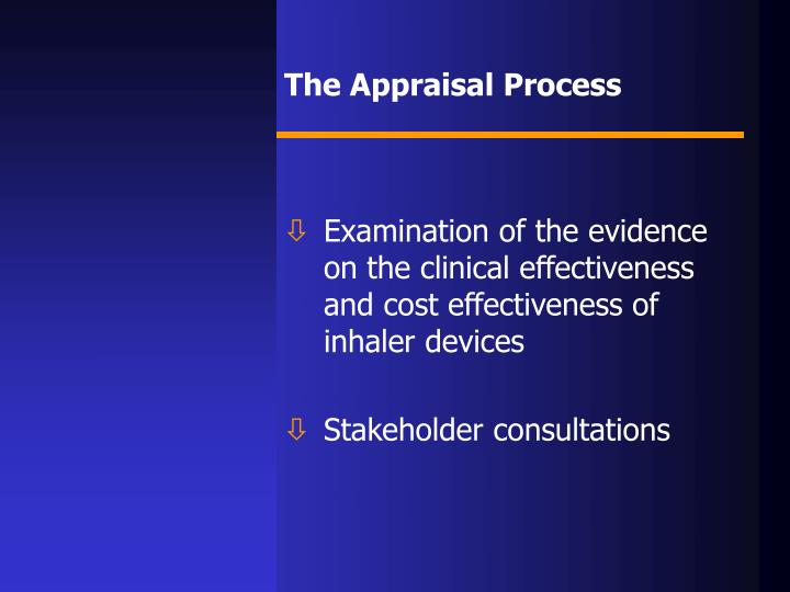 The Appraisal Process