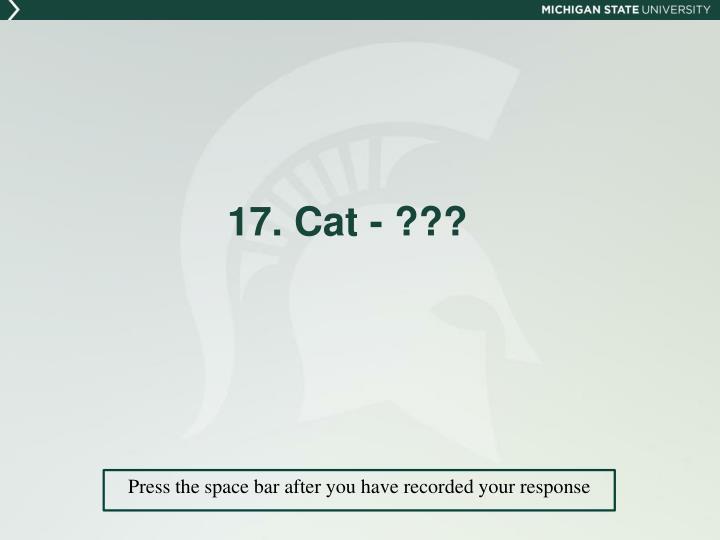 17. Cat - ???