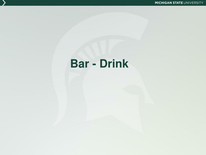 Bar - Drink