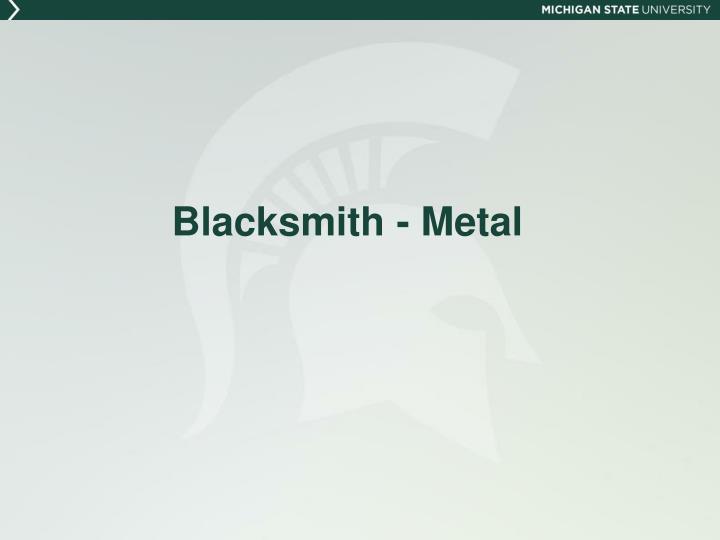 Blacksmith - Metal