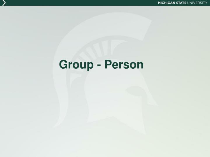 Group - Person