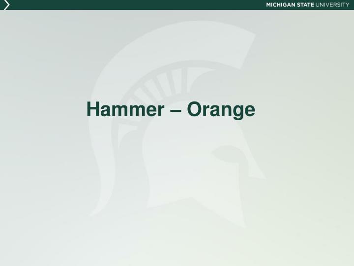 Hammer – Orange