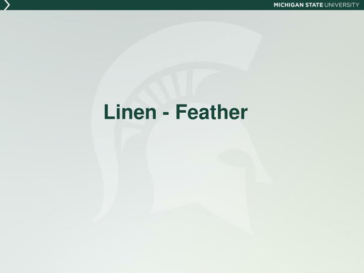 Linen - Feather