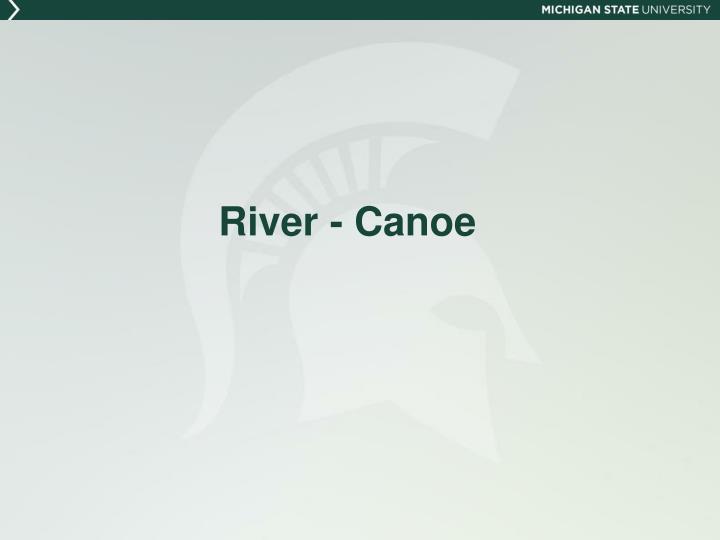 River - Canoe
