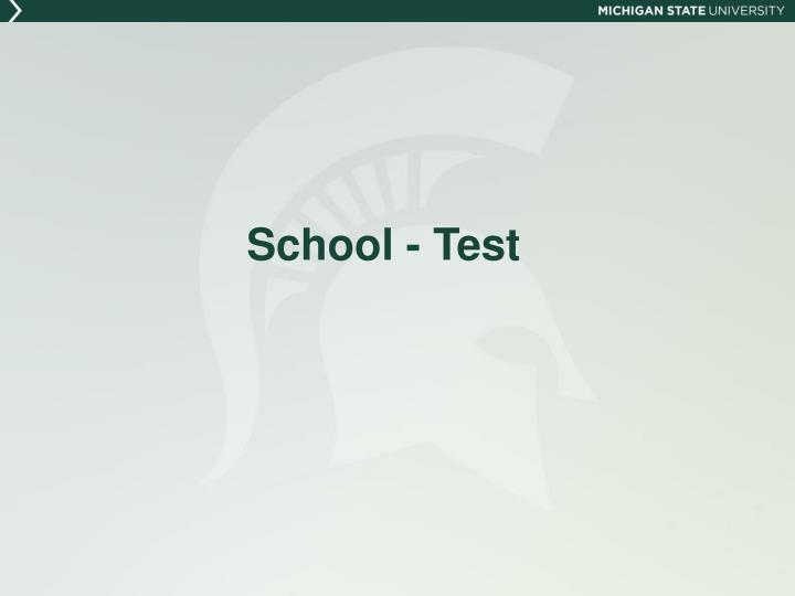 School - Test