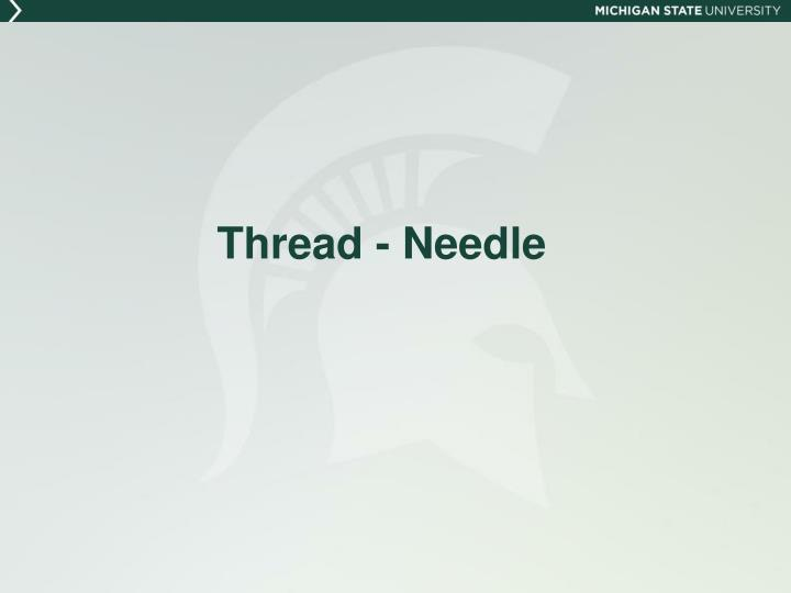 Thread - Needle