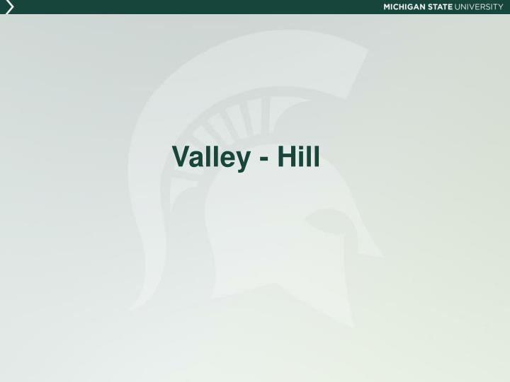 Valley - Hill