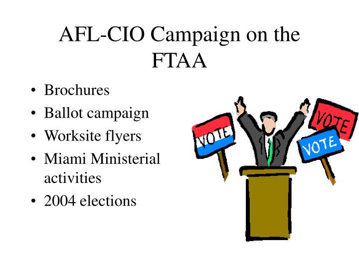 AFL-CIO Campaign on the FTAA