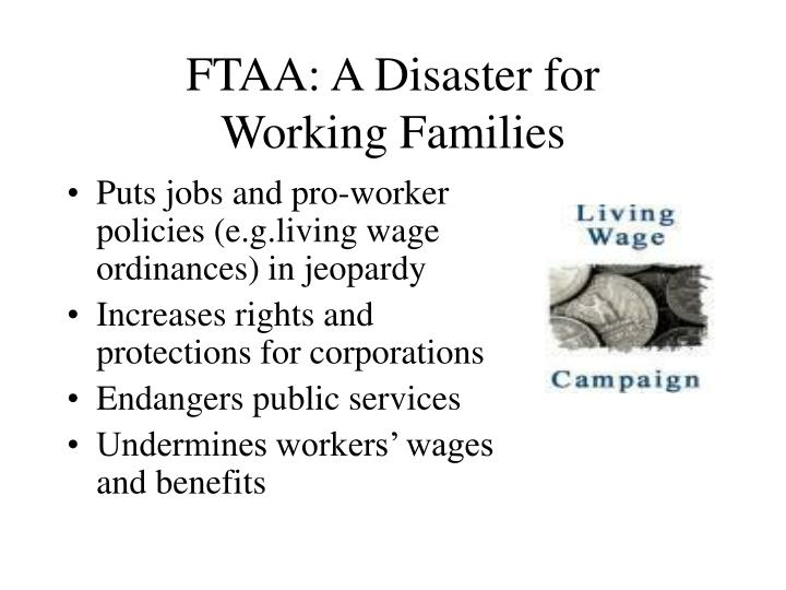 FTAA: A Disaster for