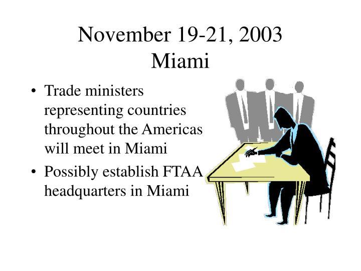 November 19-21, 2003