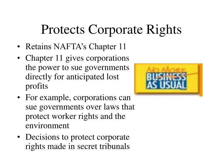 Protects Corporate Rights
