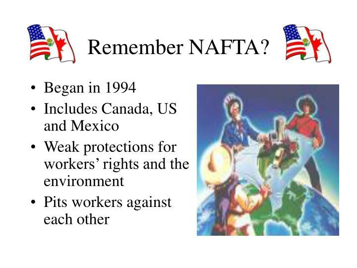 Remember NAFTA?