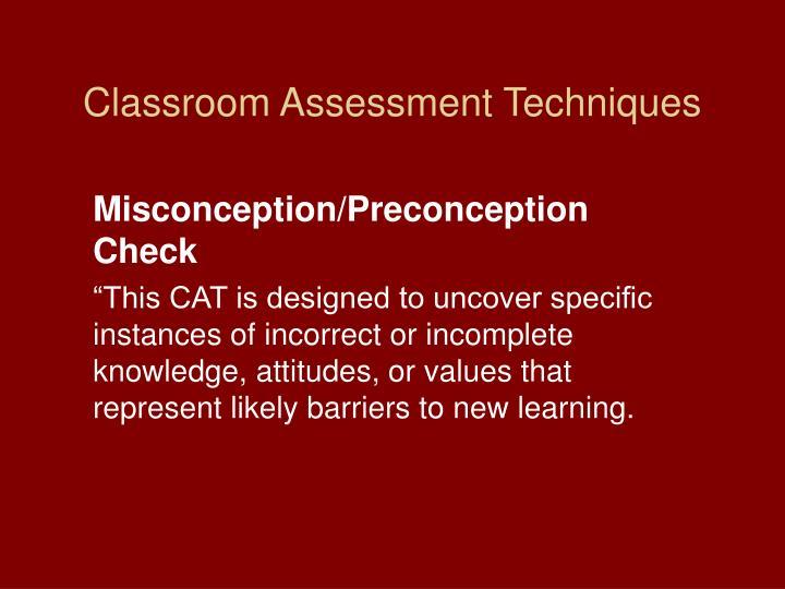 Classroom Assessment Techniques