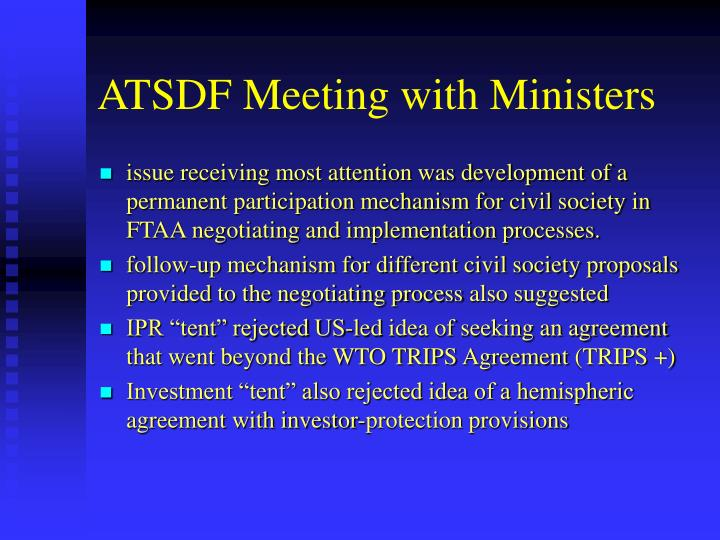 ATSDF Meeting with Ministers