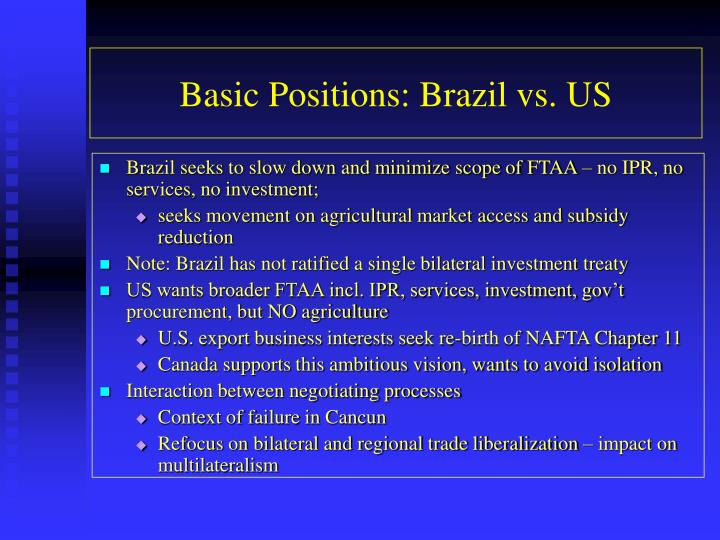 Basic Positions: Brazil vs. US