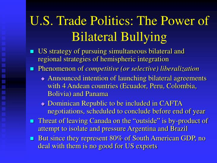 U.S. Trade Politics: The Power of Bilateral Bullying