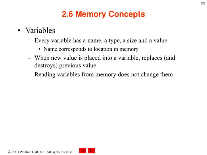 2.6 Memory Concepts