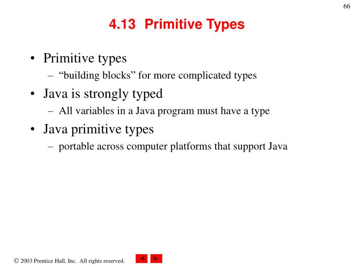 4.13  Primitive Types