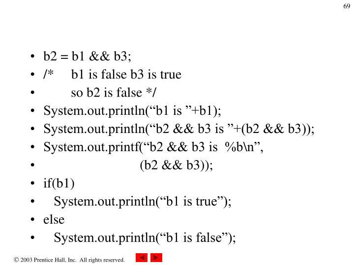 b2 = b1 && b3;