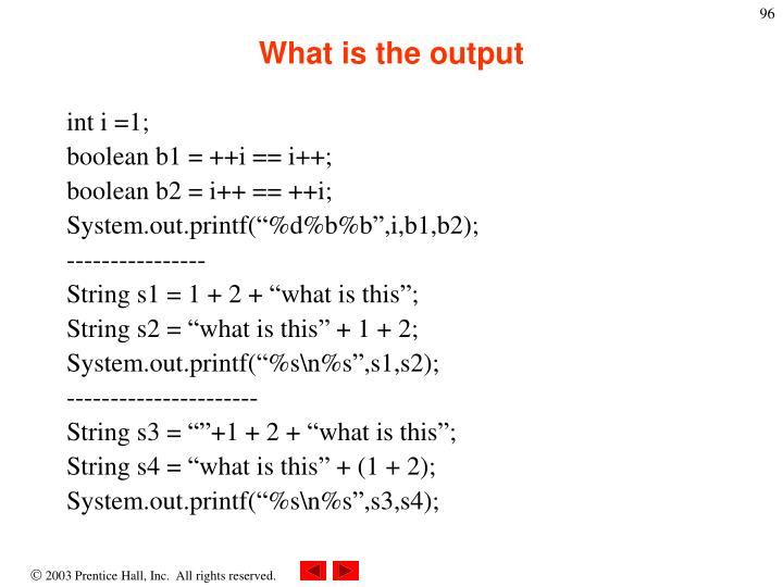 What is the output