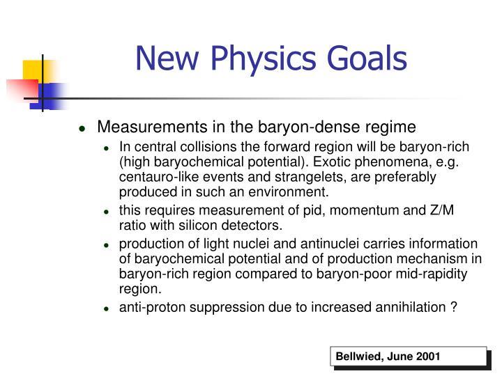 New Physics Goals
