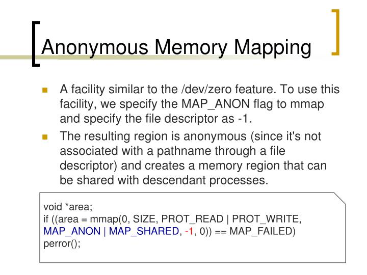 Anonymous Memory Mapping