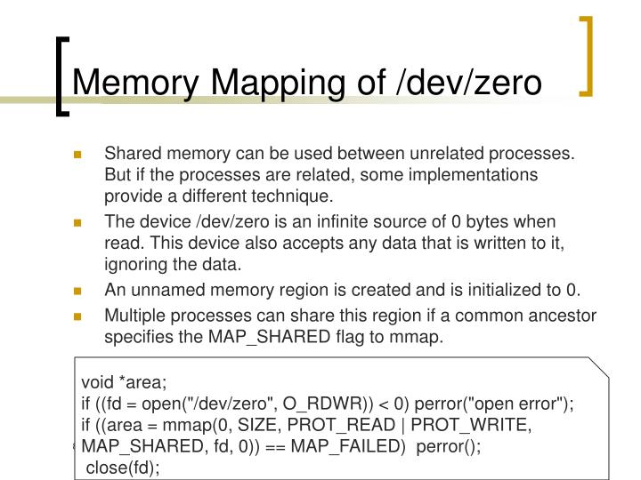 Memory Mapping of /dev/zero