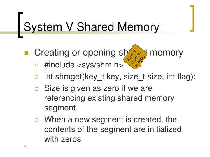System V Shared Memory