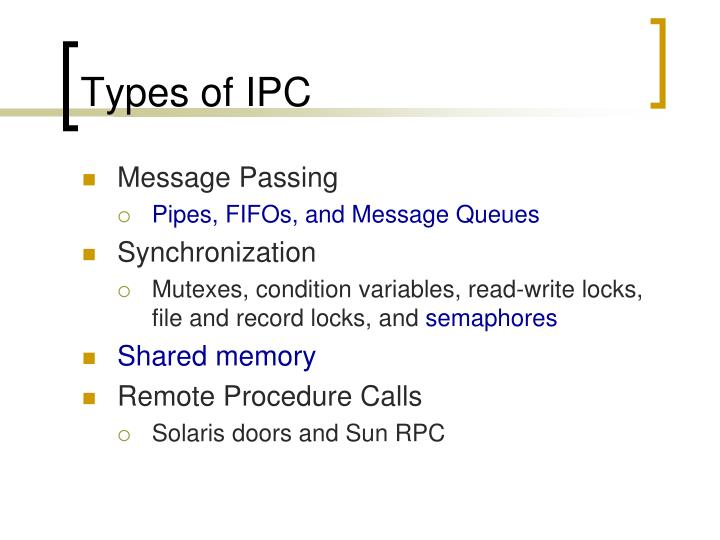 Types of ipc